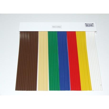 Cortina de cinta modelo 6 cañas